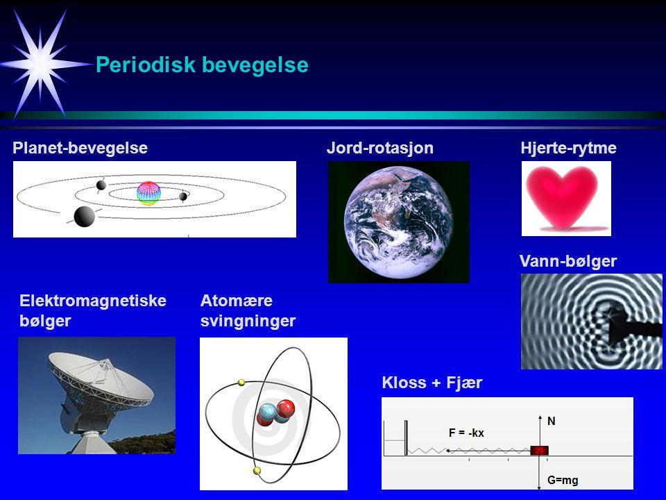 Periodisk bevegelse Planet-bevegelse Jord-rotasjon Hjerte-rytme