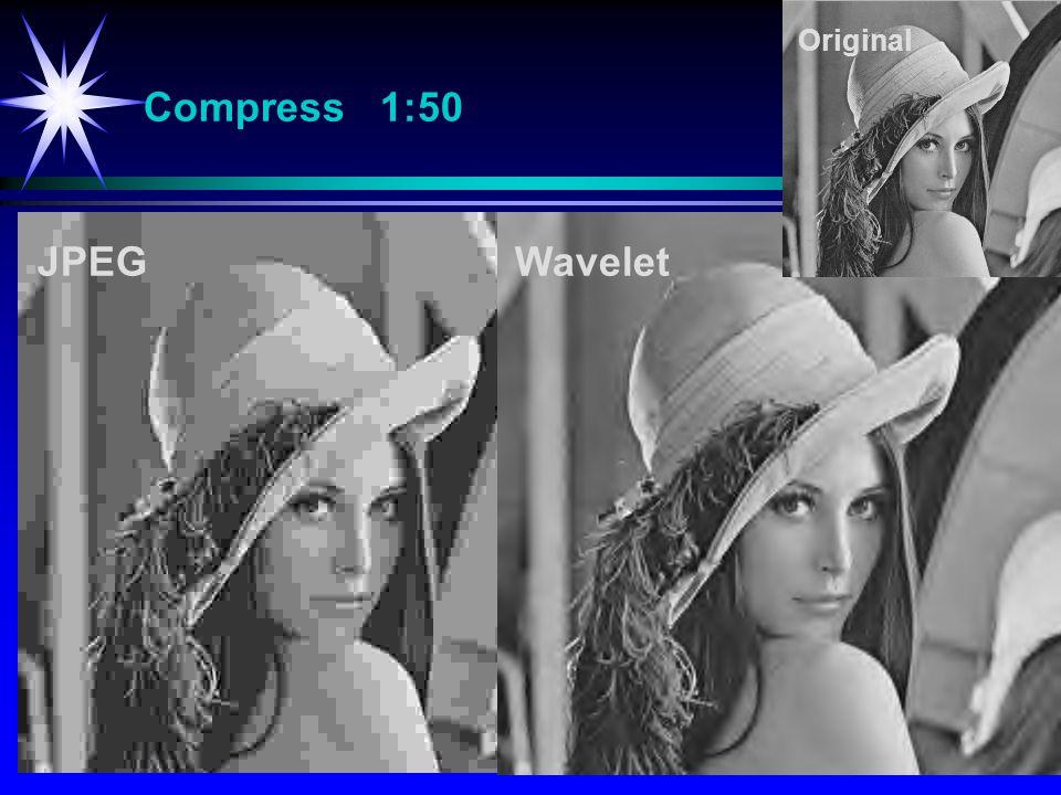 Original Compress 1:50 JPEG Wavelet