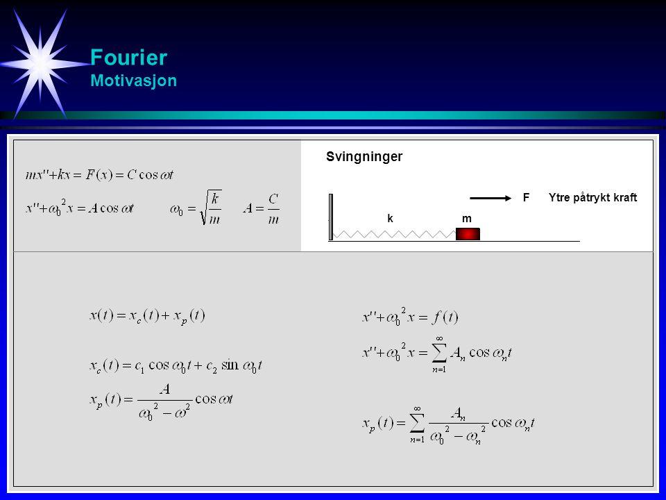 Fourier Motivasjon Svingninger F Ytre påtrykt kraft k m