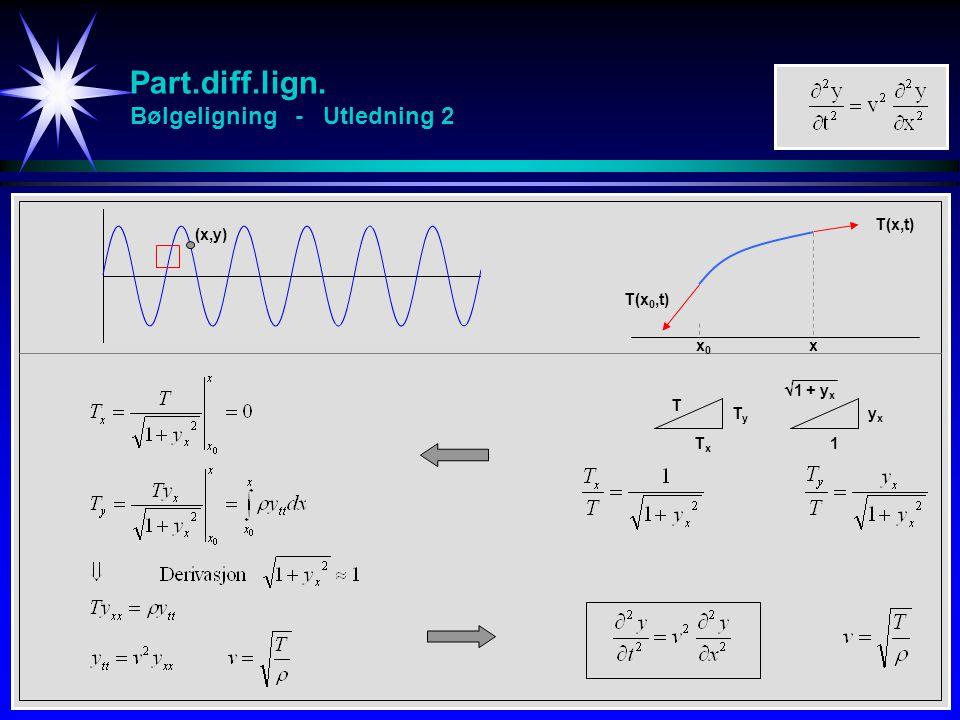Part.diff.lign. Bølgeligning - Utledning 2