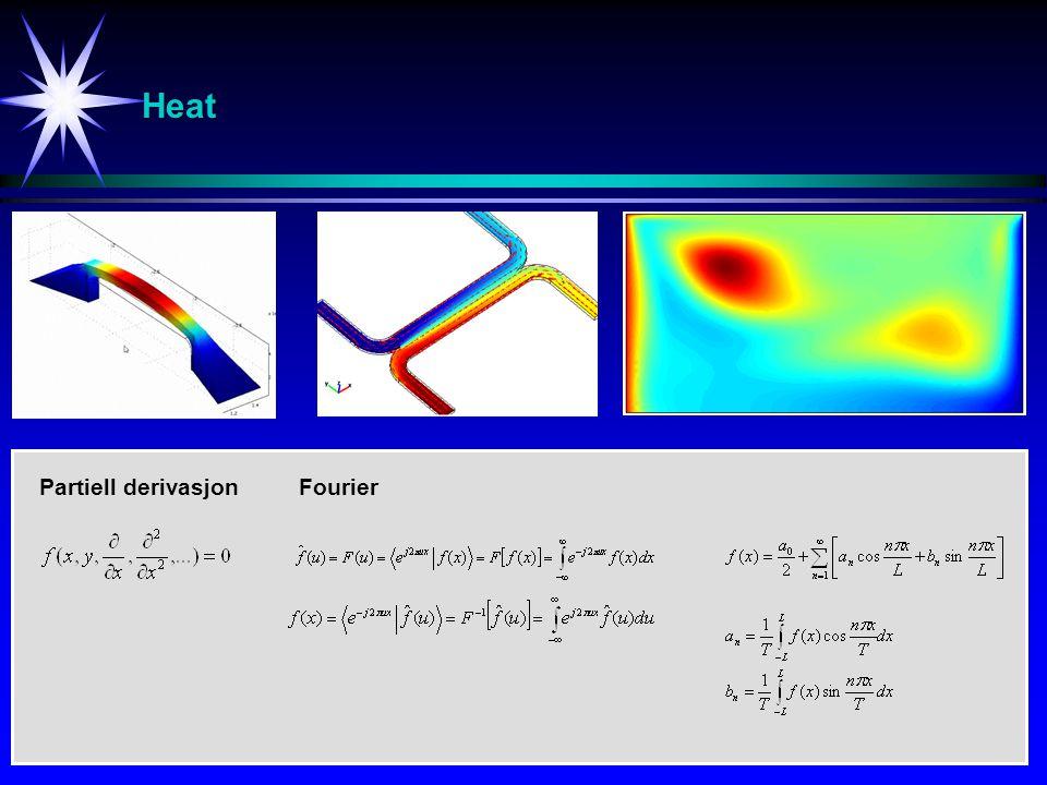 Heat Partiell derivasjon Fourier