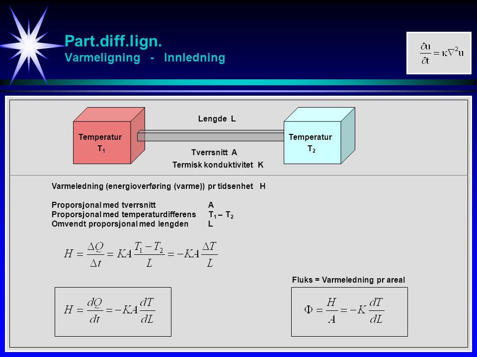 Part.diff.lign. Varmeligning - Innledning