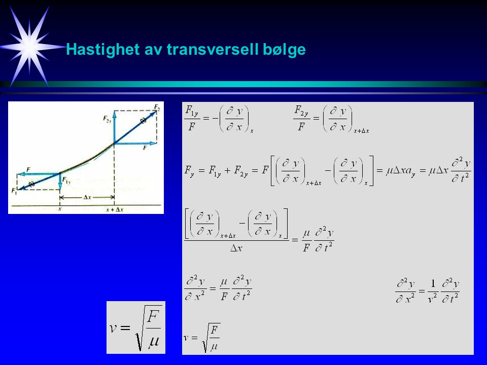 Hastighet av transversell bølge