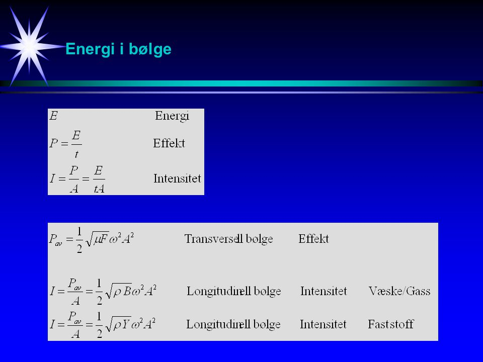 Energi i bølge