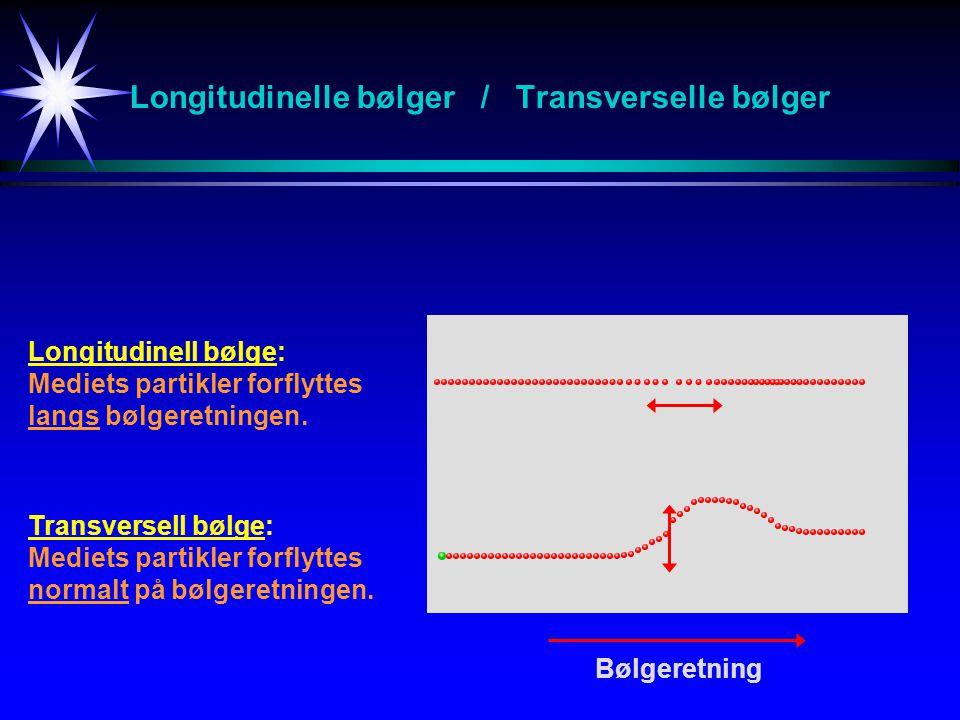 Longitudinelle bølger / Transverselle bølger