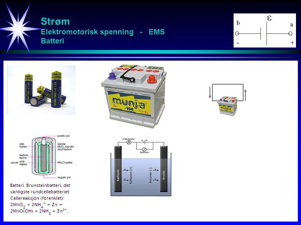 Strøm Elektromotorisk spenning - EMS Batteri