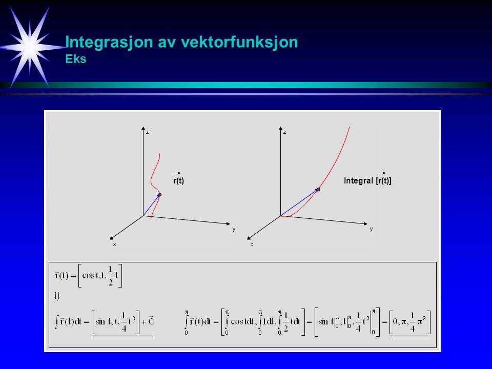 Integrasjon av vektorfunksjon Eks