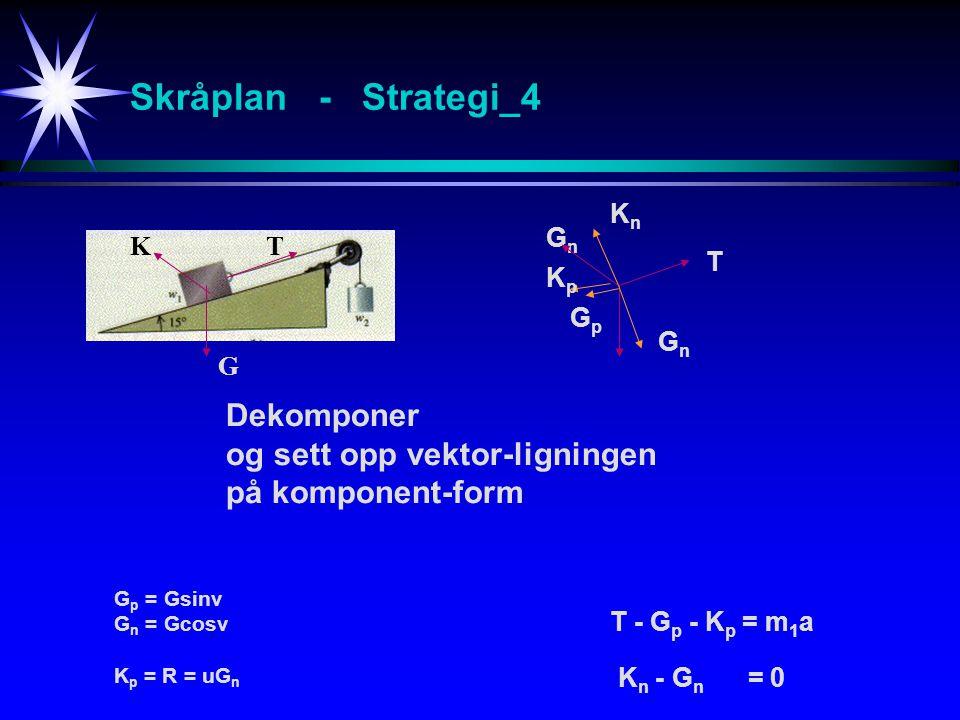 Skråplan - Strategi_4 Dekomponer og sett opp vektor-ligningen