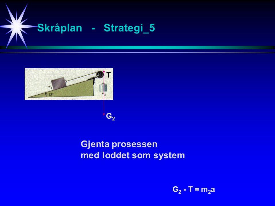 Skråplan - Strategi_5 Gjenta prosessen med loddet som system T G G2