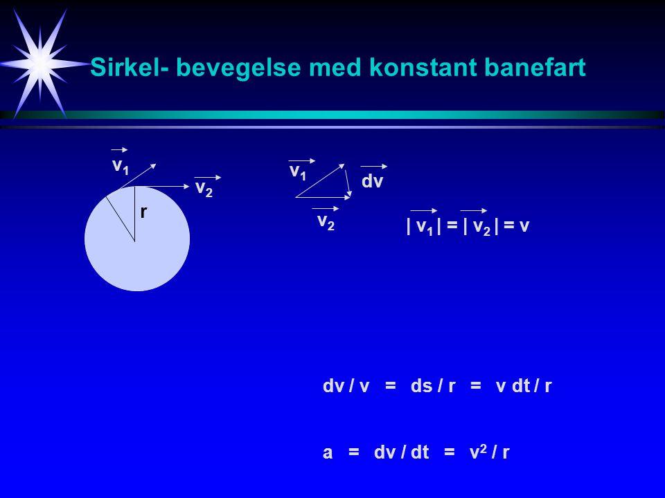 Sirkel- bevegelse med konstant banefart
