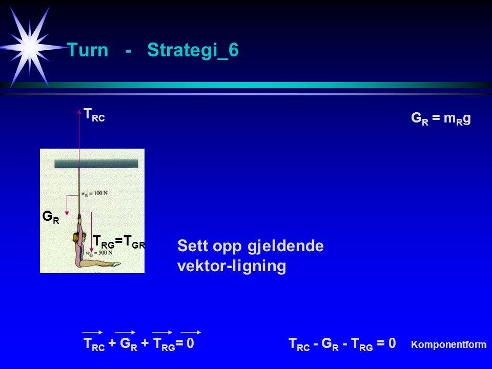 Turn - Strategi_6 Sett opp gjeldende vektor-ligning TRC GR = mRg GR