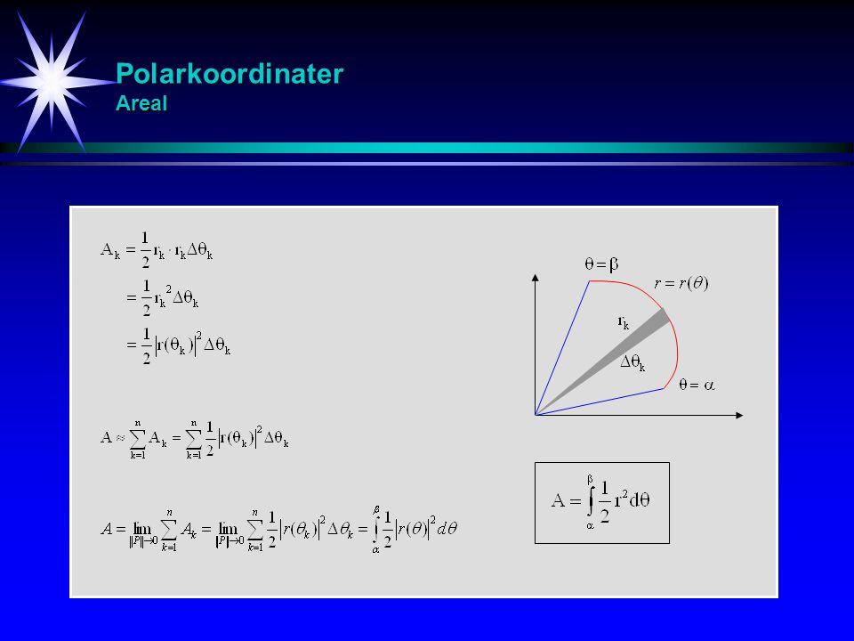 Polarkoordinater Areal