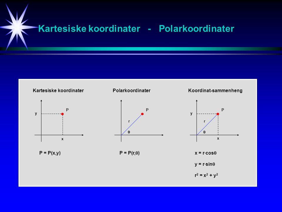 Kartesiske koordinater - Polarkoordinater