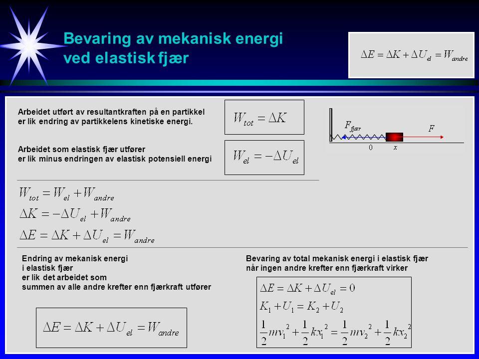 Bevaring av mekanisk energi ved elastisk fjær
