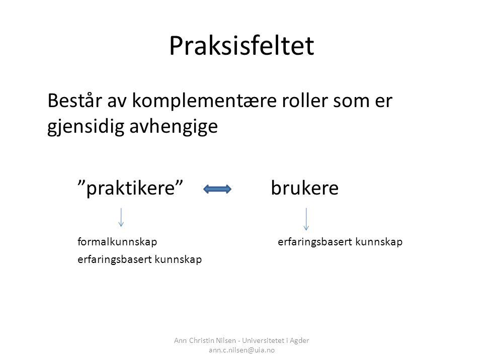 Ann Christin Nilsen - Universitetet i Agder ann.c.nilsen@uia.no
