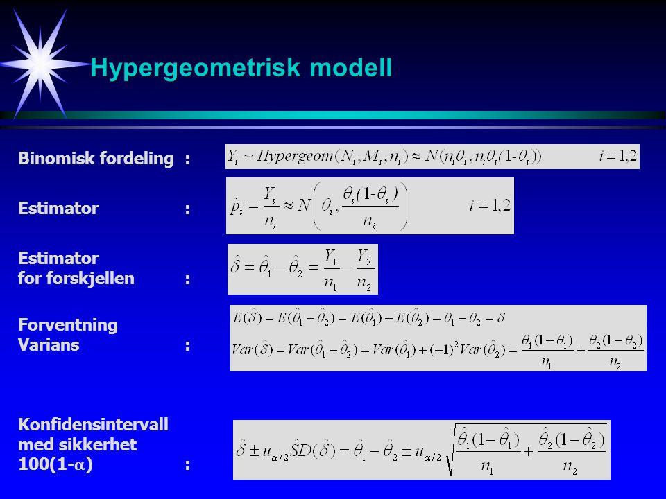 Hypergeometrisk modell