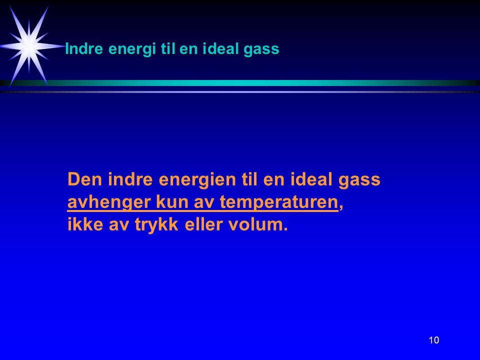 Indre energi til en ideal gass
