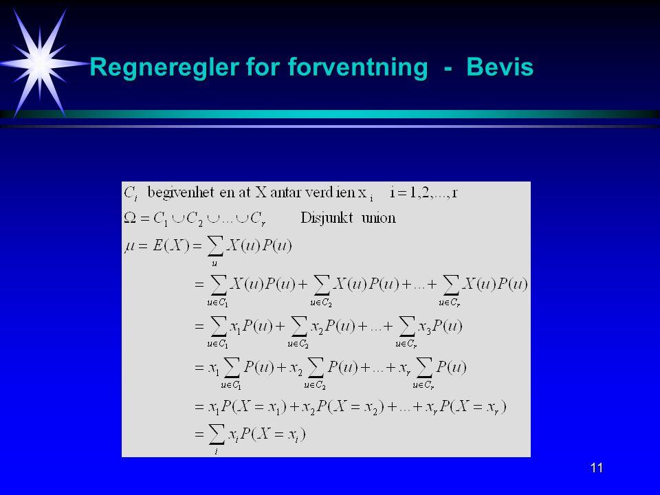 Regneregler for forventning - Bevis
