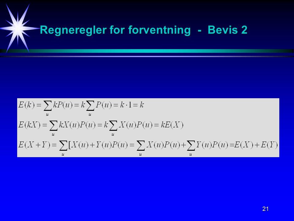Regneregler for forventning - Bevis 2