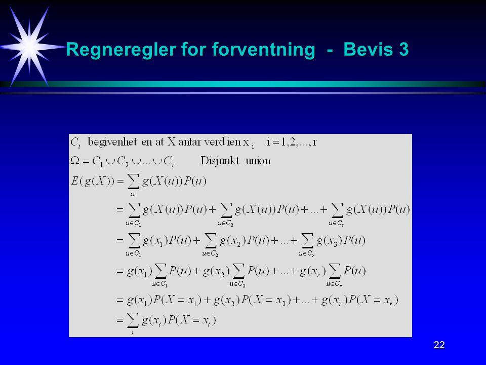 Regneregler for forventning - Bevis 3