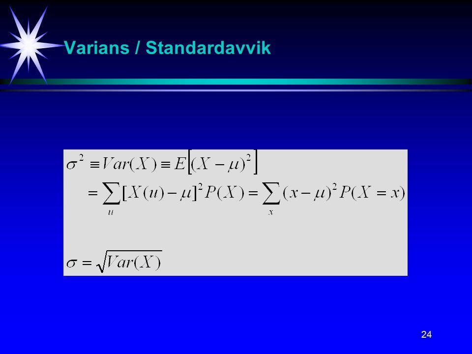 Varians / Standardavvik