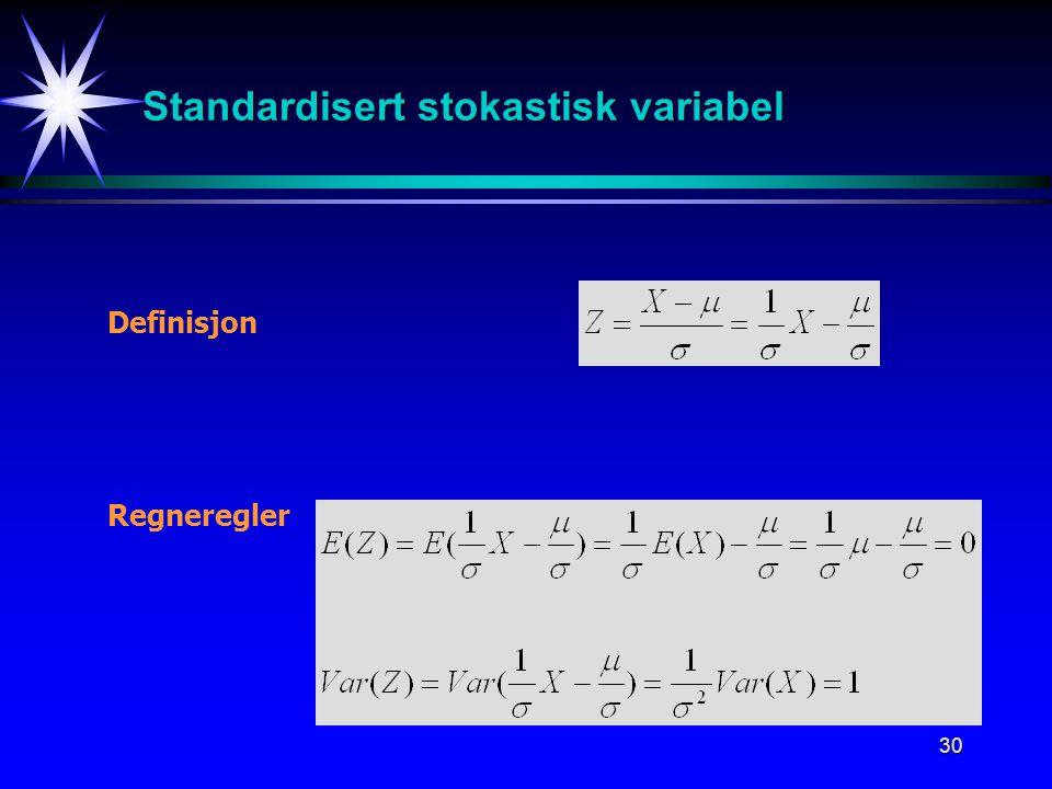 Standardisert stokastisk variabel