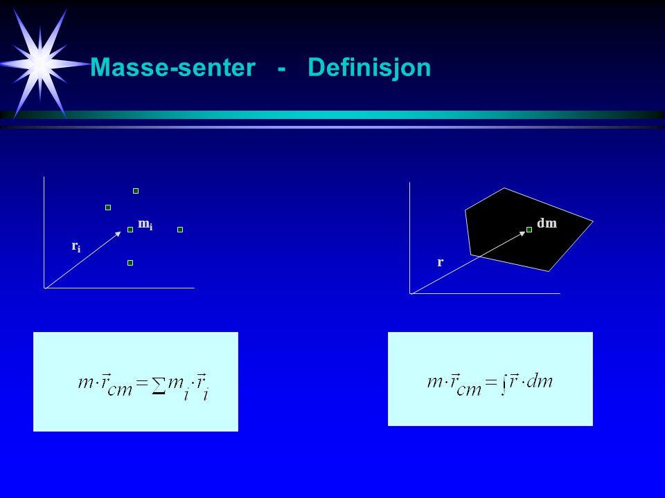 Masse-senter - Definisjon