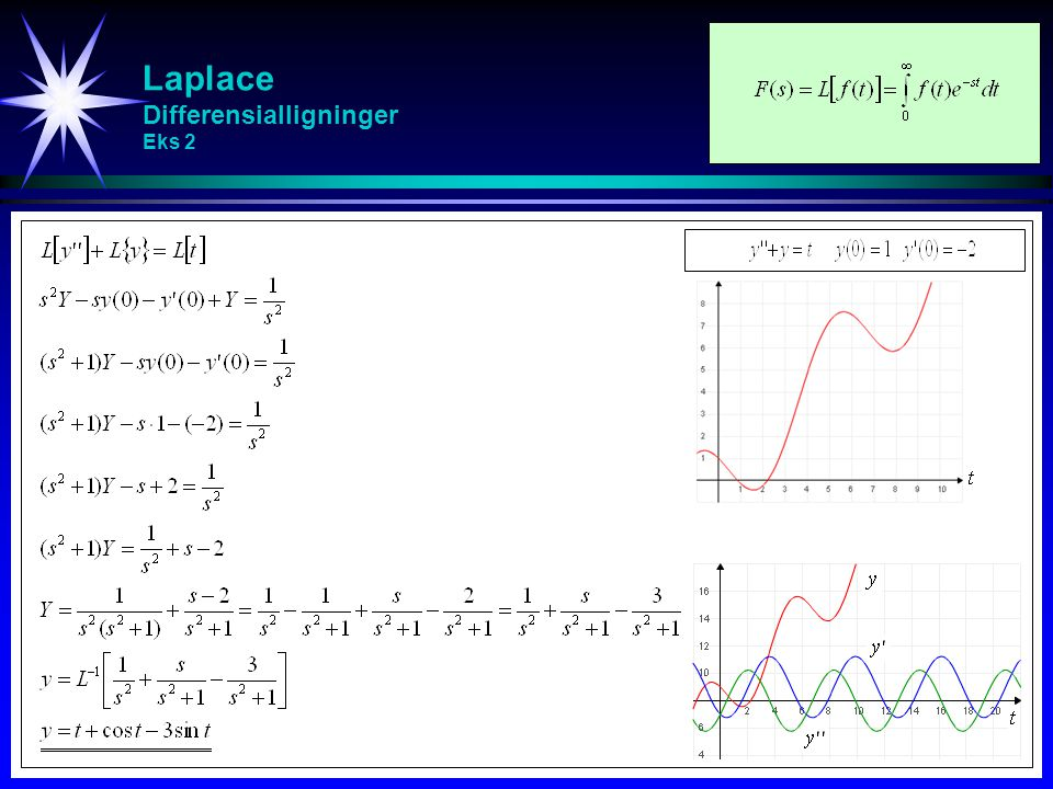 Laplace Differensialligninger Eks 2