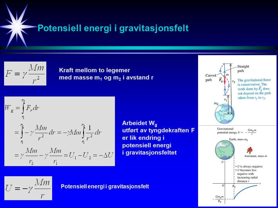 Potensiell energi i gravitasjonsfelt