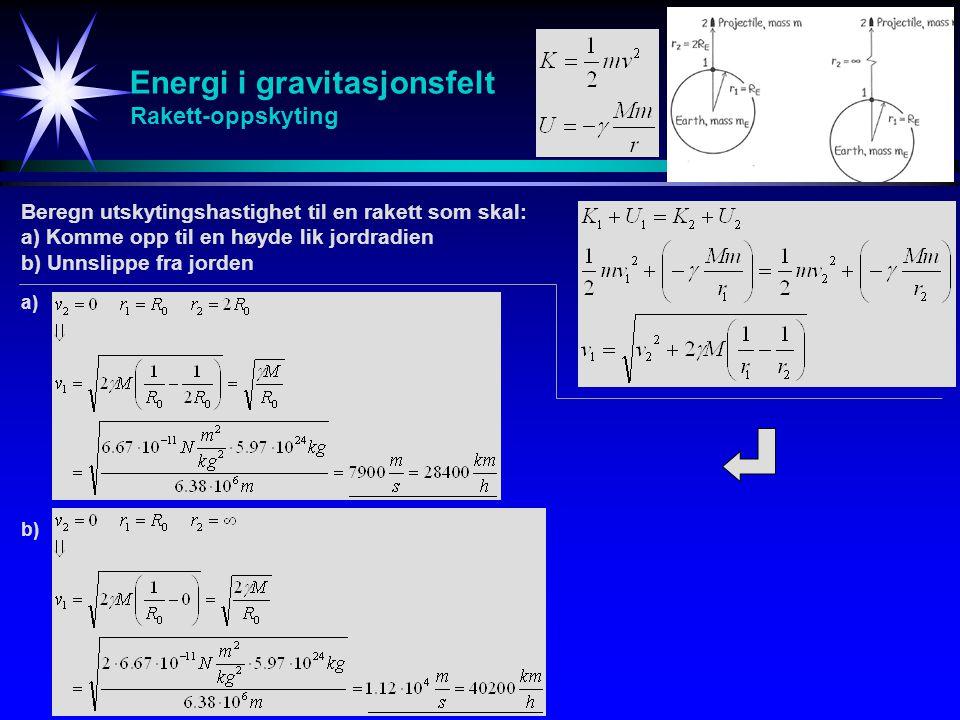 Energi i gravitasjonsfelt Rakett-oppskyting