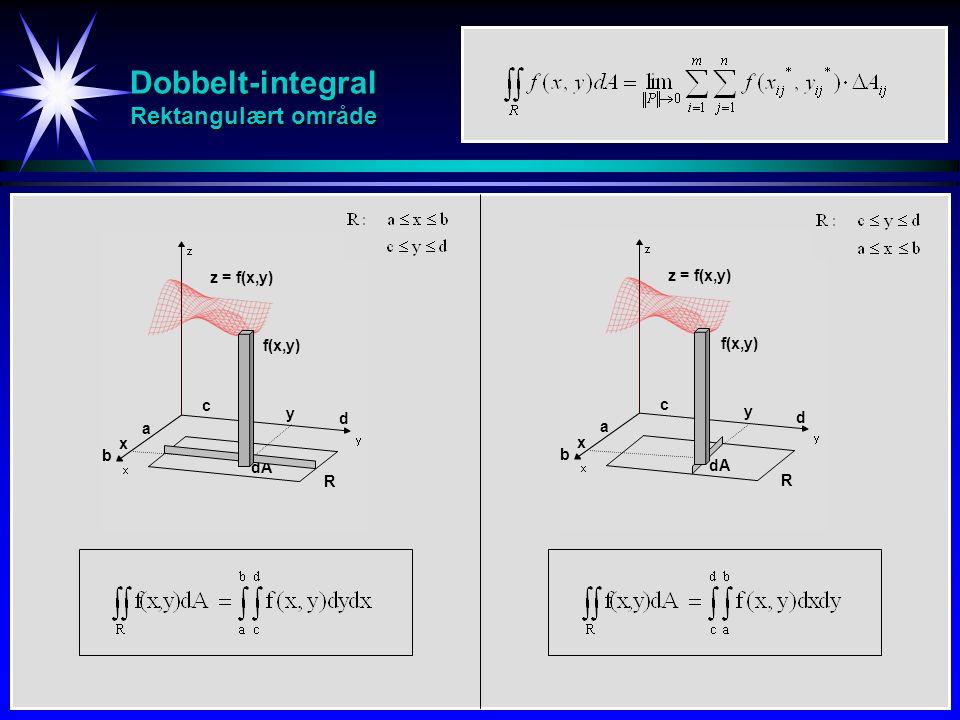 Dobbelt-integral Rektangulært område