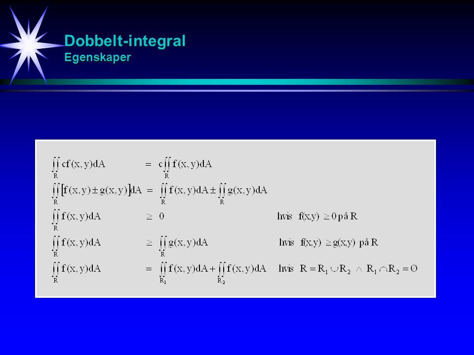 Dobbelt-integral Egenskaper