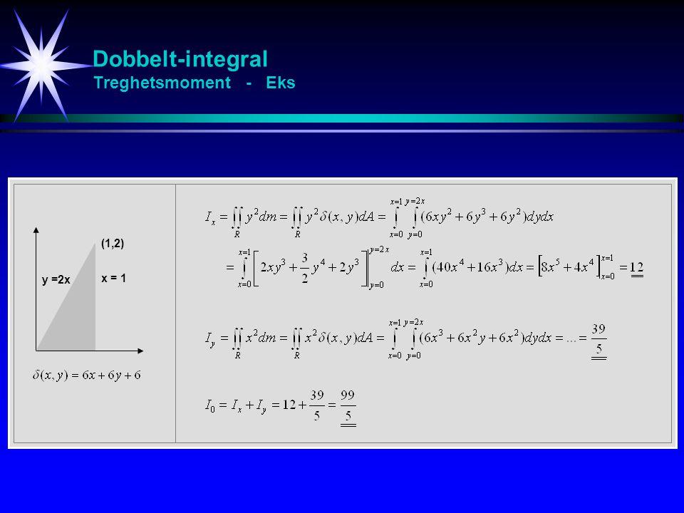 Dobbelt-integral Treghetsmoment - Eks
