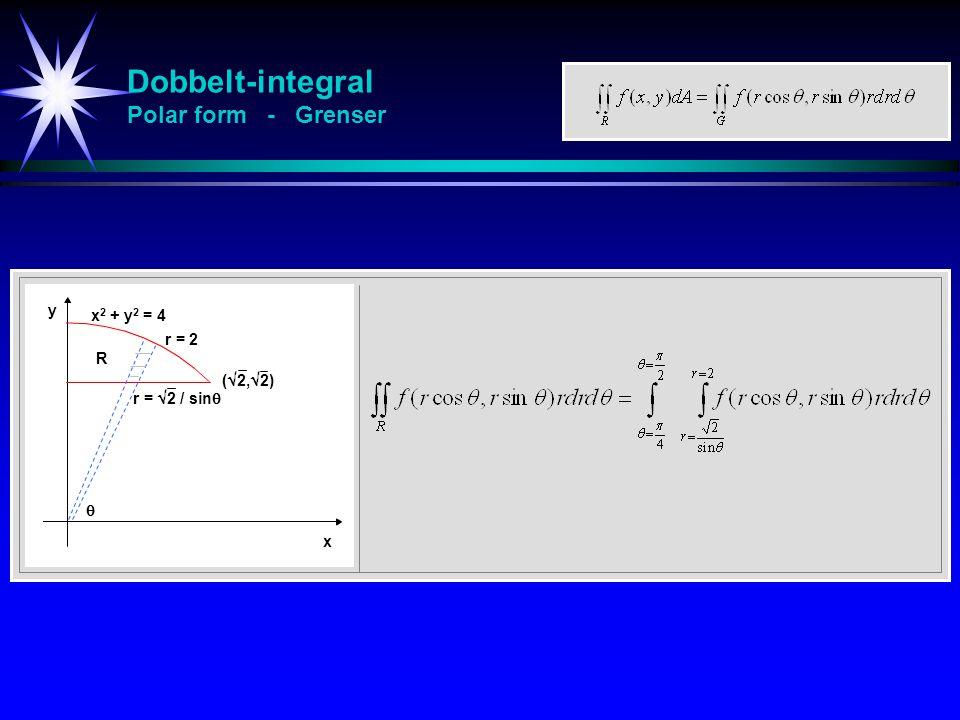 Dobbelt-integral Polar form - Grenser