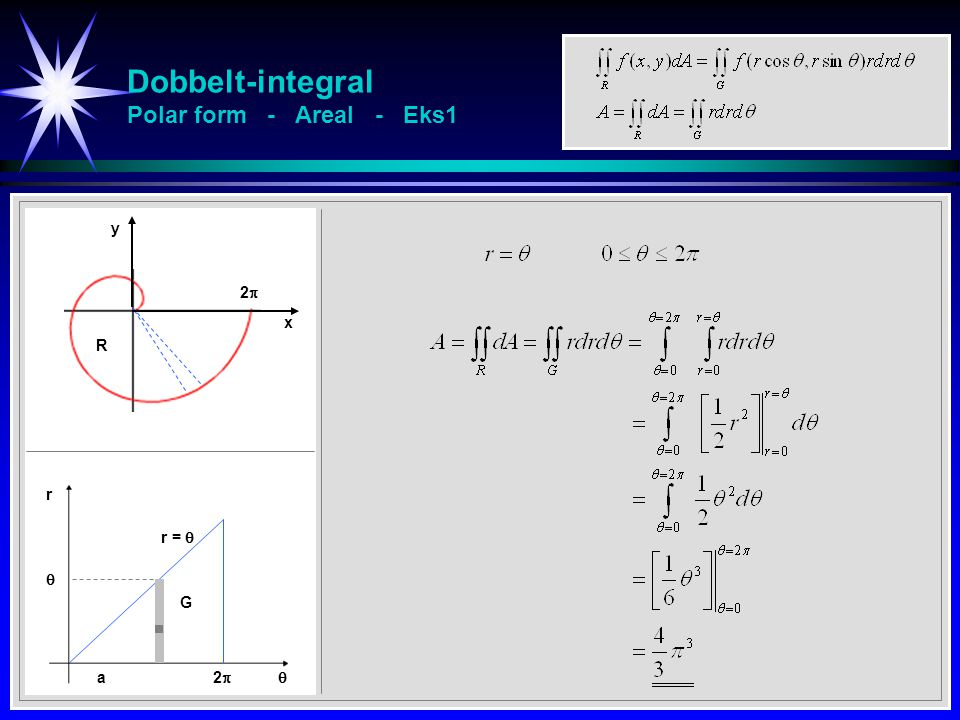 Dobbelt-integral Polar form - Areal - Eks1