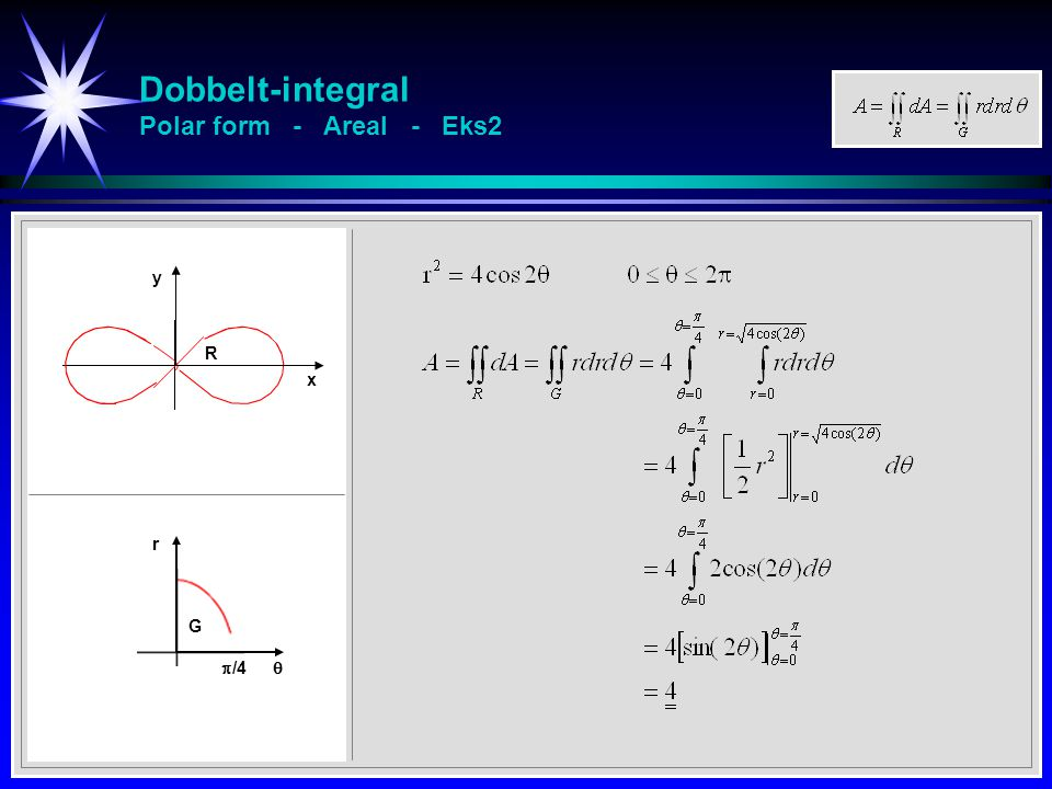 Dobbelt-integral Polar form - Areal - Eks2