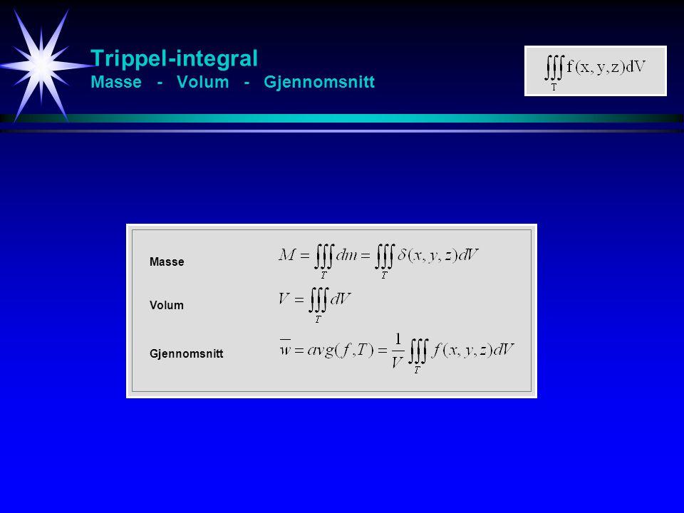 Trippel-integral Masse - Volum - Gjennomsnitt