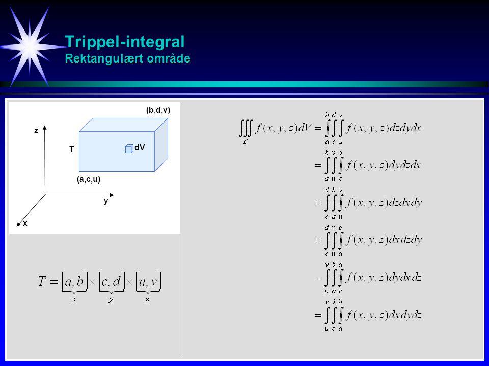Trippel-integral Rektangulært område