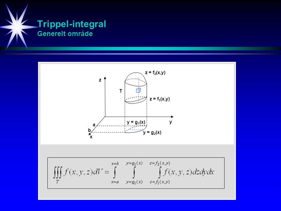 Trippel-integral Generelt område