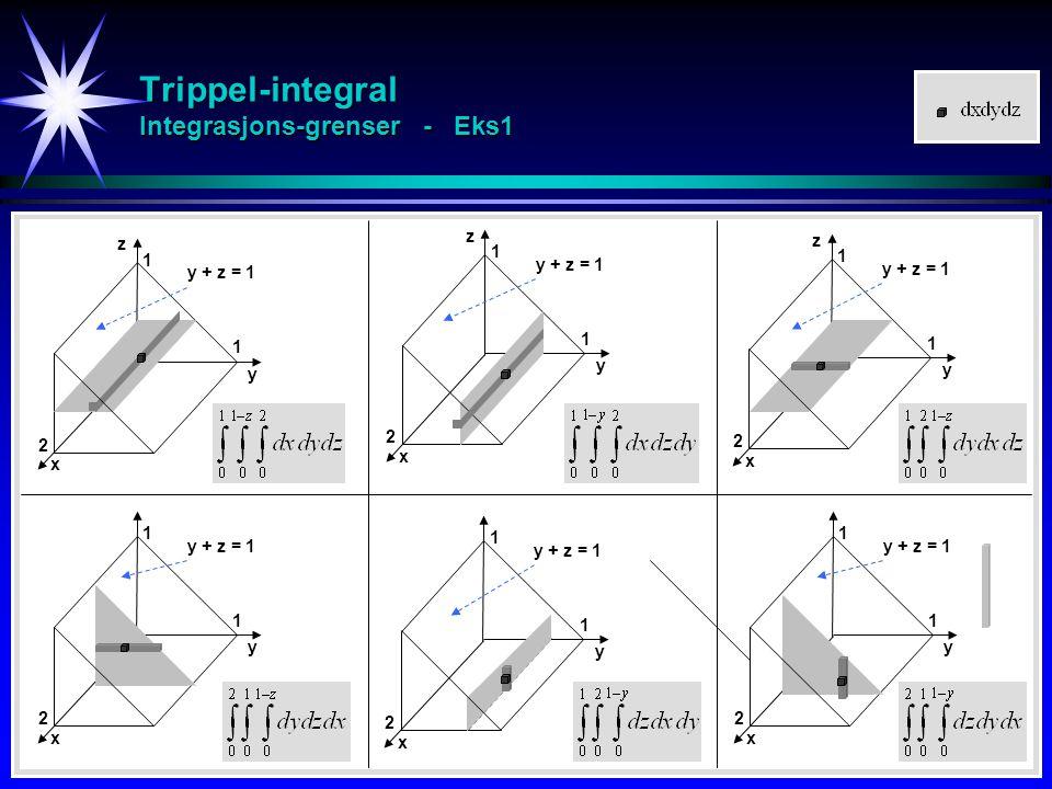 Trippel-integral Integrasjons-grenser - Eks1