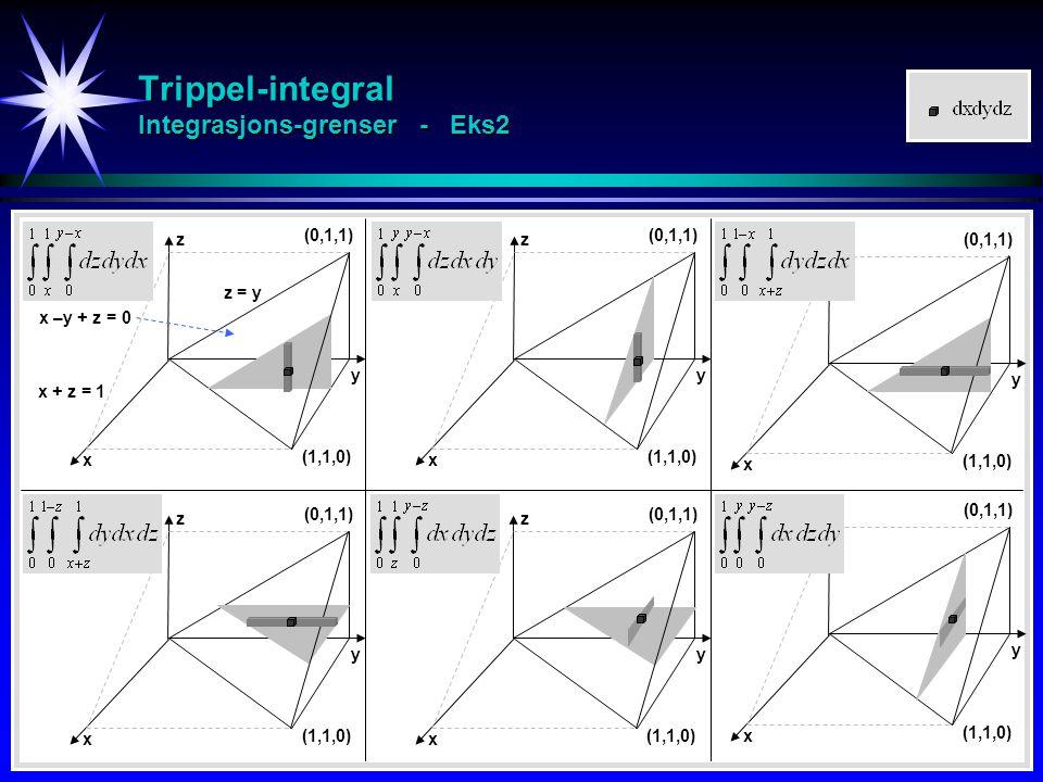Trippel-integral Integrasjons-grenser - Eks2