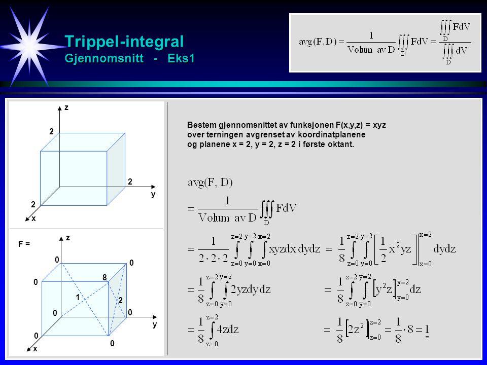 Trippel-integral Gjennomsnitt - Eks1