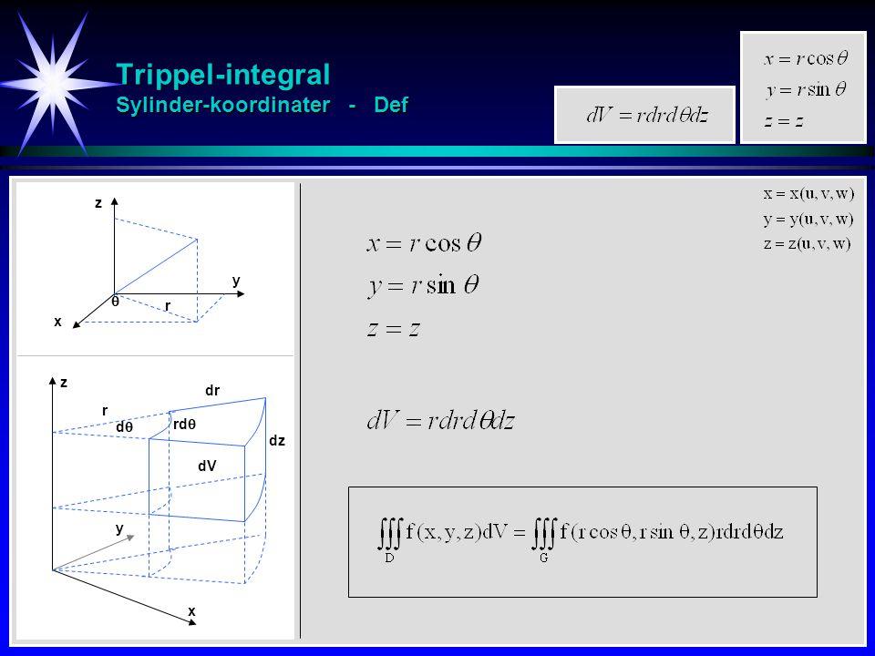 Trippel-integral Sylinder-koordinater - Def