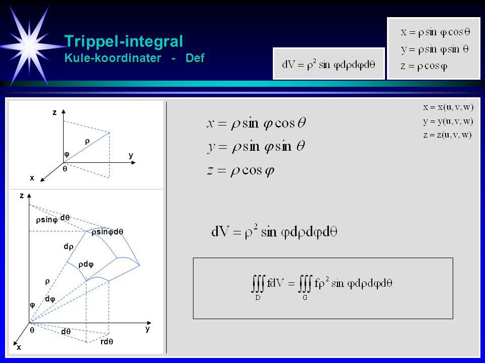 Trippel-integral Kule-koordinater - Def