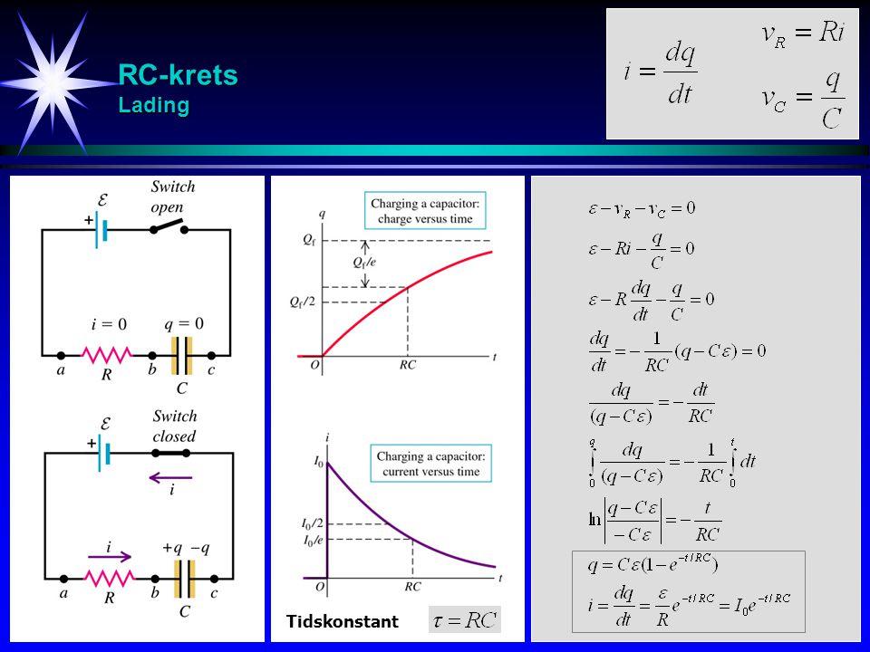RC-krets Lading Tidskonstant