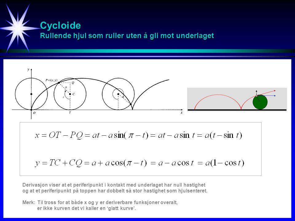 Cycloide Rullende hjul som ruller uten å gli mot underlaget