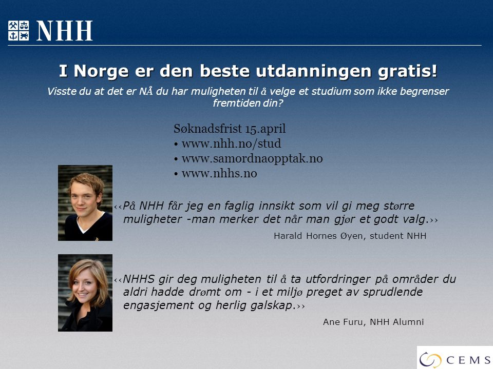 I Norge er den beste utdanningen gratis