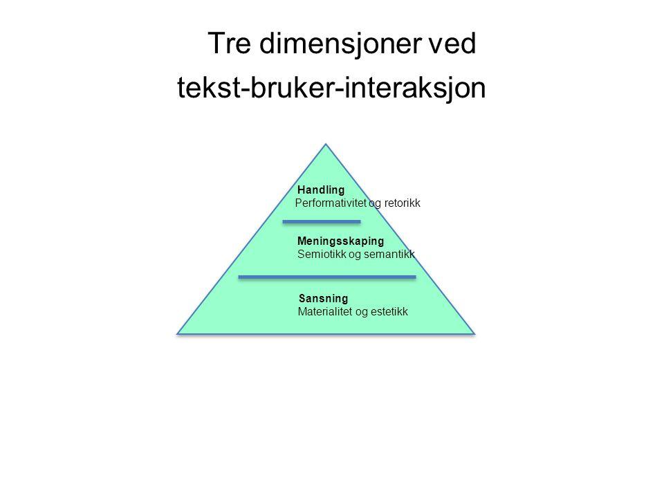 Tre dimensjoner ved tekst-bruker-interaksjon