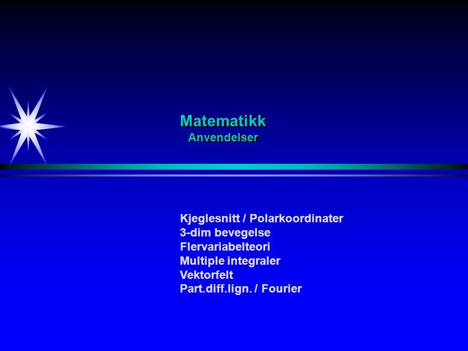 Matematikk Anvendelser