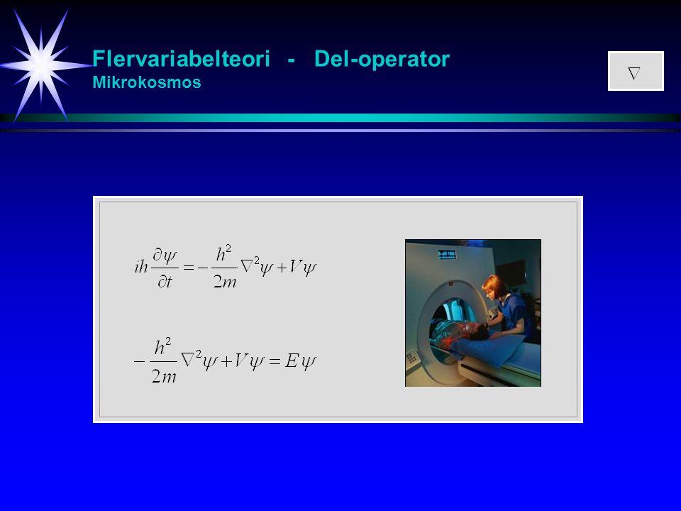 Flervariabelteori - Del-operator Mikrokosmos